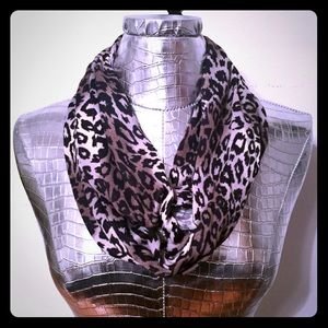 Smokey Ombre Leopard Infinity Scarf Printed